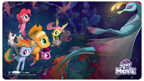 MLP Movie Play Mat - Seaponies + Bonus Foil Card!