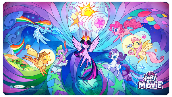 Mlp Movie Play Mat Plus Bonus Foil Card Stained Glass