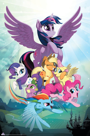 MLP Movie Poster plus Bonus Foil Card - Twilight & Friends