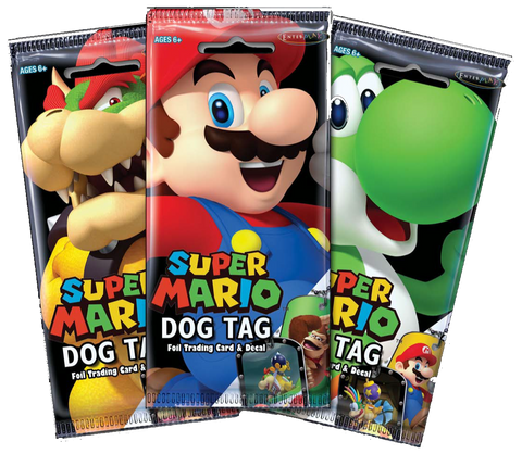 Super Mario Dog Tag & Trading Card Fun Packs