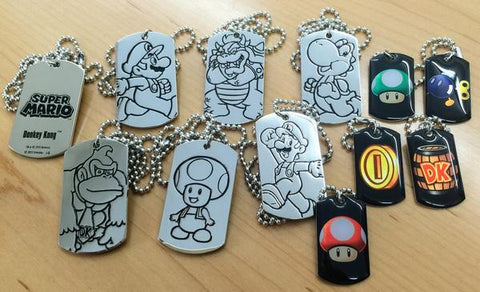 Super Mario Dog Tags - Deluxe Set