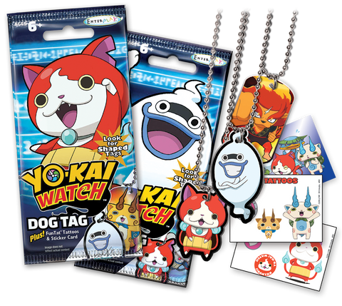 Yo-Kai Watch Dog Tag & Trading Card Fun Packs