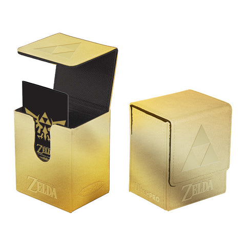Zelda Deck Box - Gold Tri-Force Flip Box