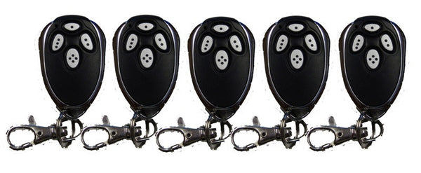 Five Lockmaster DKL Remote Control Transmitters