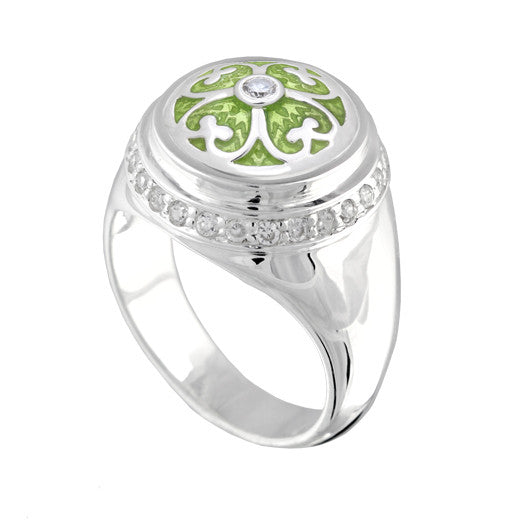Kameleon Sterling Silver Cherish Ring, KR034