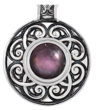 Filigree Circle Pendant, KPLE1