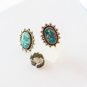 Suns of Paradise Turquoise Ring