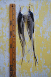 Black Haze Feather Earrings