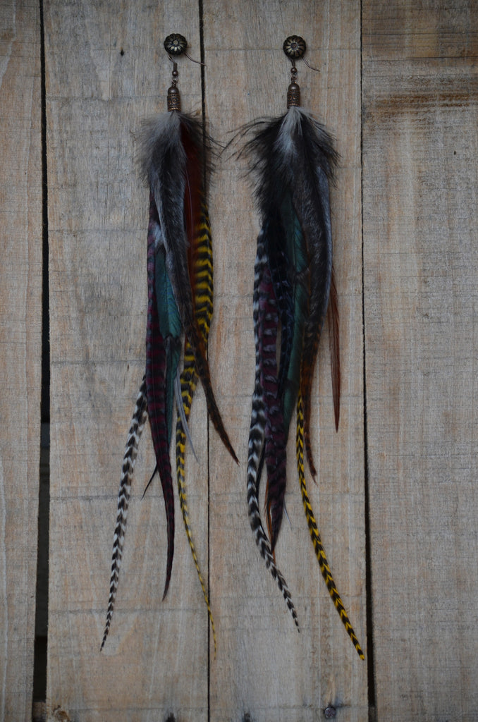 Mother Earth Feather Earrings