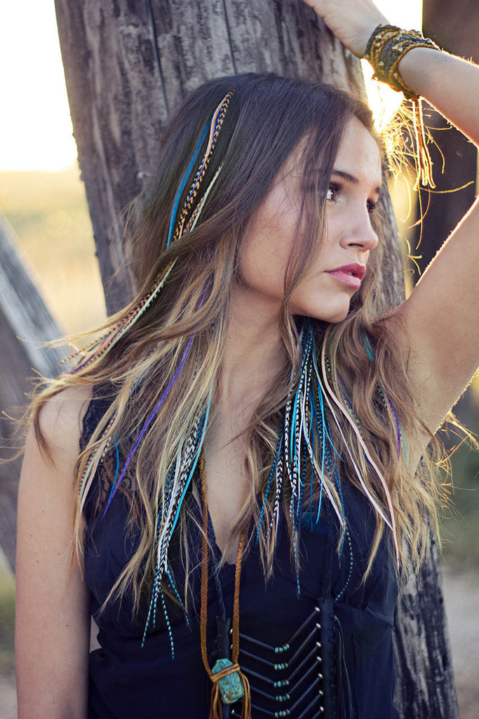 Festival Babe Feather Earrings