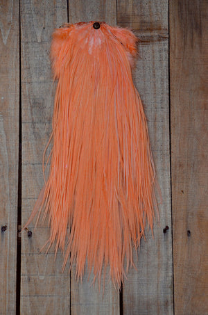 peach feather saddle