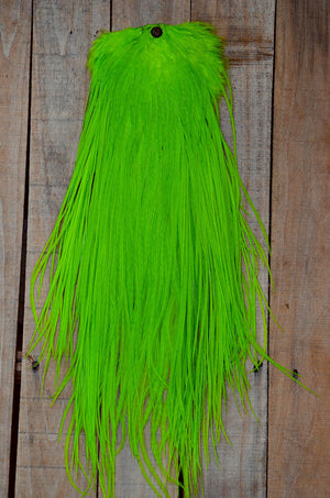 chartreuse feather saddle
