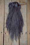 dark gray dun feather saddle