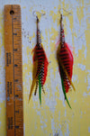 One Love, One Heart Feather Earrings