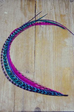 extra long feather extension berry