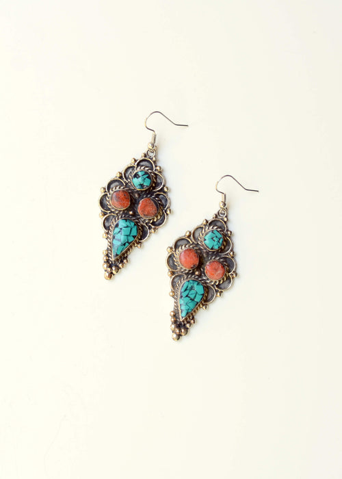 Circles of Paradise Turquoise Earrings