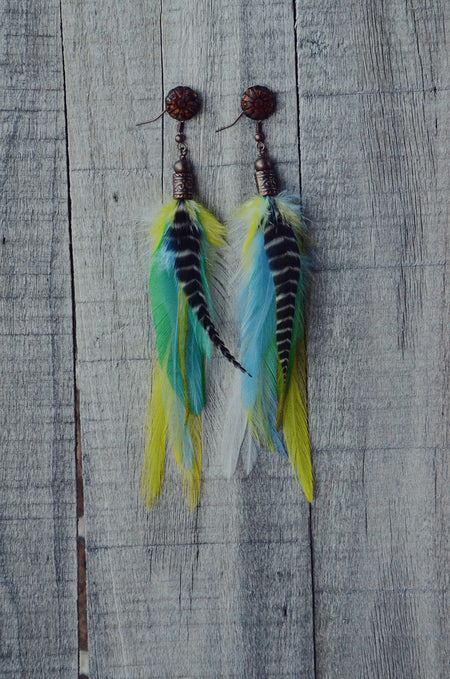 Into The Mystic Feather Earrings