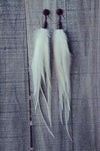 white feather earrings