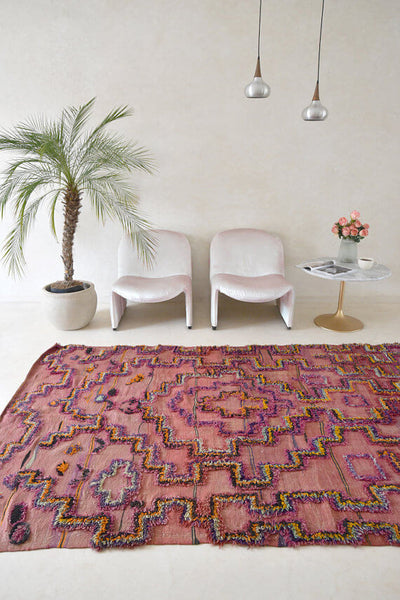Nostalgic Familiar Air | Moroccan Boucherouite Rug