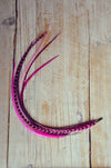 feather extension pink