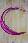 extra long feather extension pink
