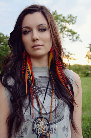 Starfire Feather Earrings