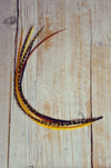 feather extension yellow