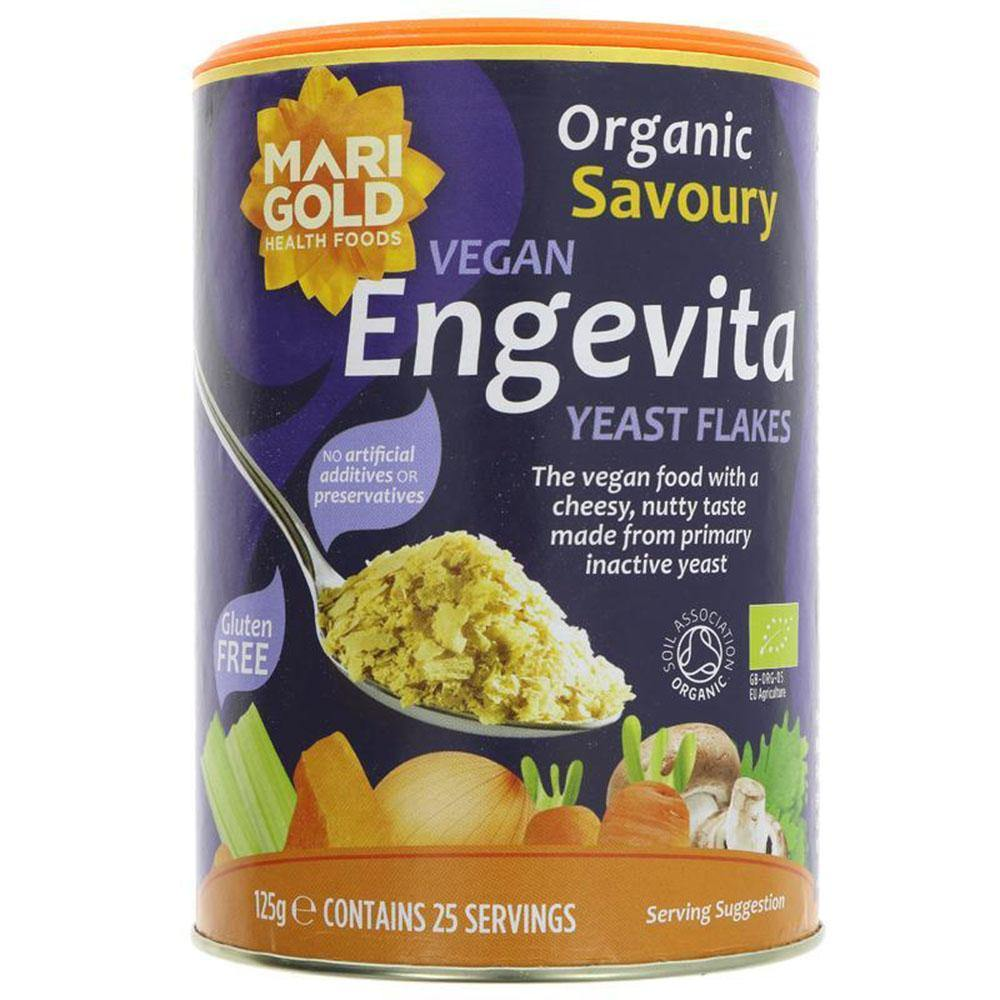 Engevita Organic Yeast Flakes - 125g - Vegetropolis Organic Fruit and Veg Delivery Service
