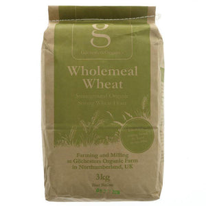 Gilchesters Organics Whole Wheat Strong Flour - 3kg - Vegetropolis Organic Fruit and Veg Delivery Service
