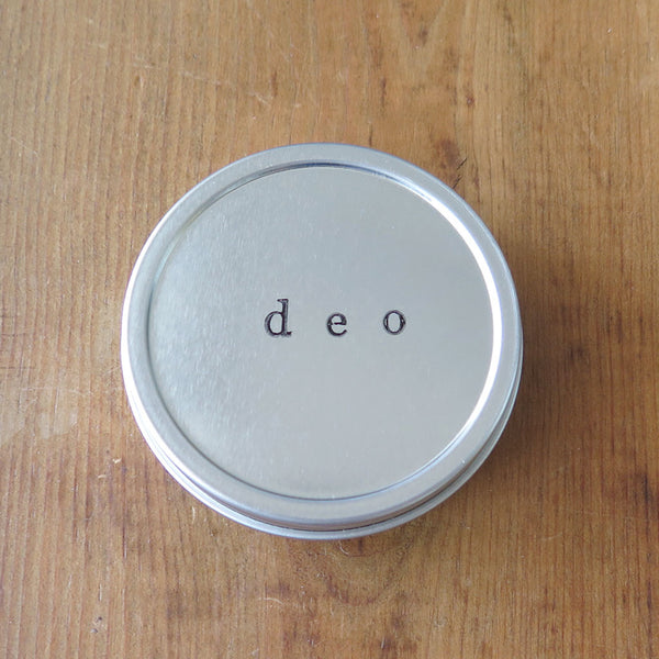 Deodorant Crème in a Tin Container