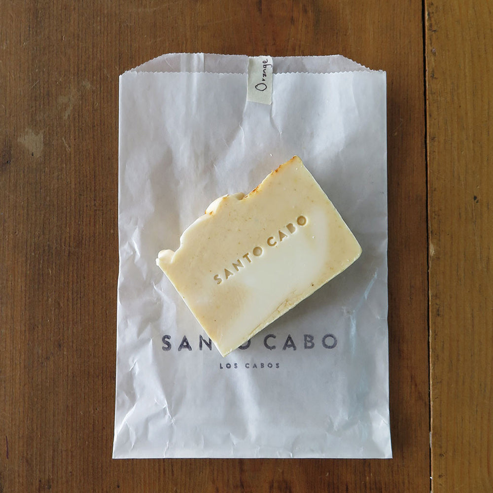 Load image into Gallery viewer, Orange Patchouli Bar Soap with Bag
