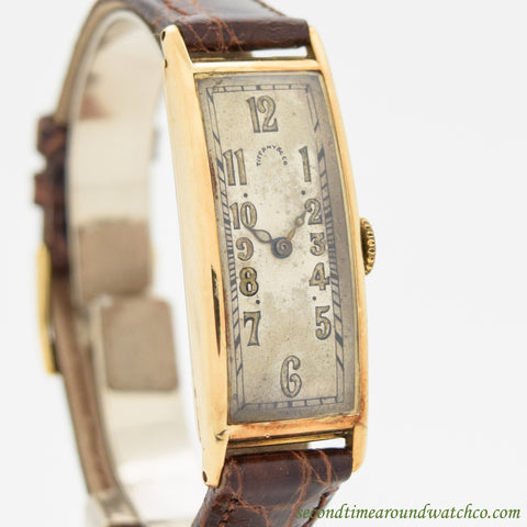 1920's Vintage 14K Yellow Gold Tiffany & Co. Polyplan-Style Watch