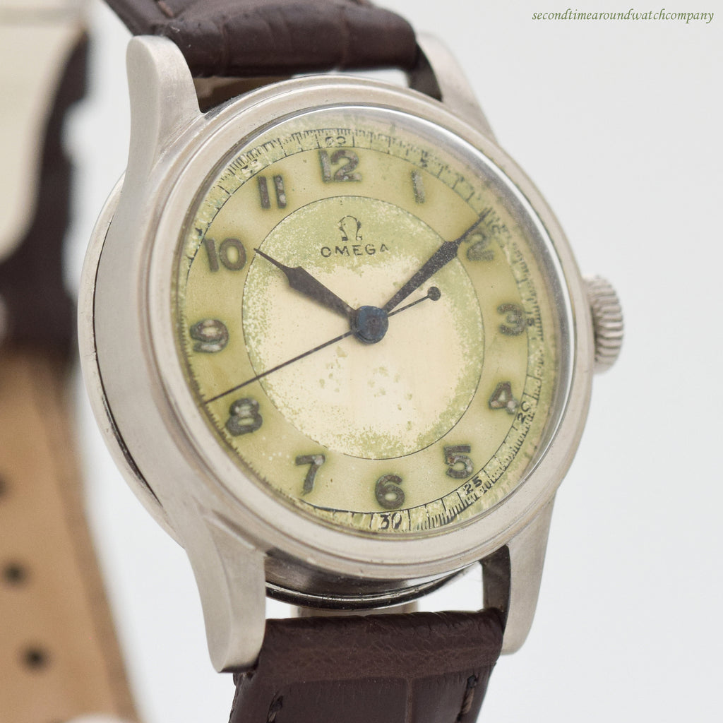 1938 Vintage Omega WWII-era Military Stainless Steel Watch