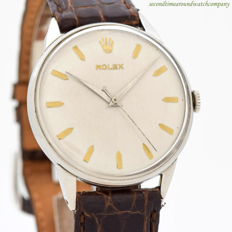 1954 Vintage Rolex Precision Ref. 9022 Stainless Steel Watch