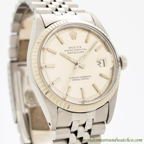 1973 Vintage Rolex Datejust Ref. 1601 Stainless Steel Watch