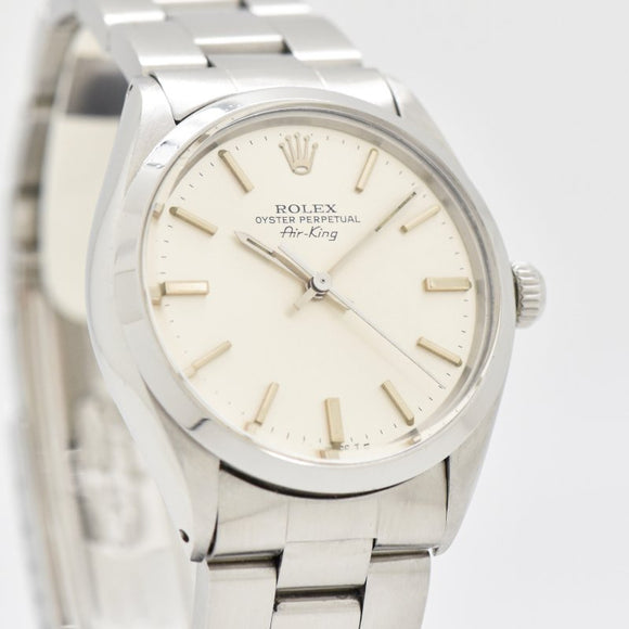 1980 Vintage Rolex Air-King Reference 5500/1002 Stainless Steel Watch