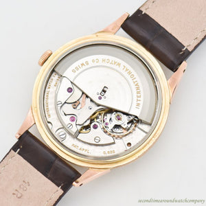 1953 Vintage International Watch Co. Automatic 18k Rose Gold Watch