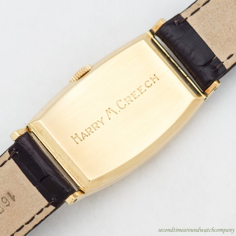1920's Vintage Tiffany & Co. Rectangular-shaped 14k Yellow Gold Watch
