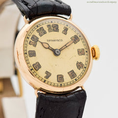 1913 Vintage Tiffany & Co. 14k Yellow Gold Watch