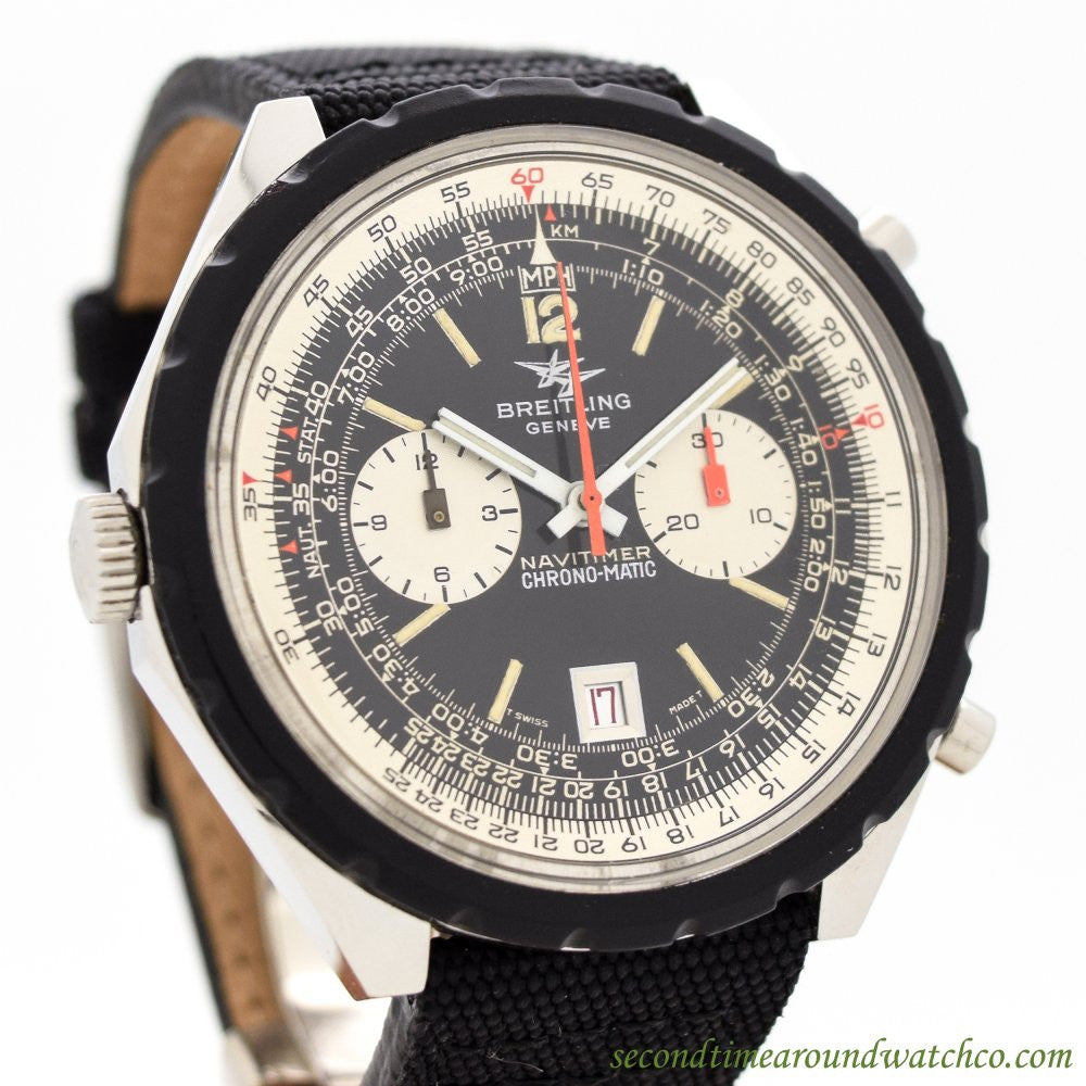 1969 Vintage Breitling Navitimer Chronomatic Ref. 1806 11525/67 Stainless Steel Watch