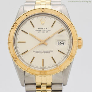 1979 Vintage Rolex Thunderbird Datejust Reference 16253 14k Yellow Gold & Stainless Steel Watch