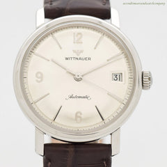 1960's Vintage Wittnauer Automatic Stainless Steel Watch
