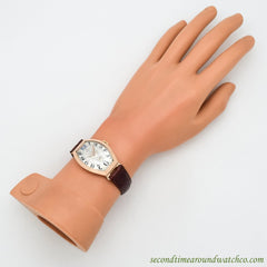 1920's Vintage Omega Tonneau-shaped 14K Rose Gold Watch