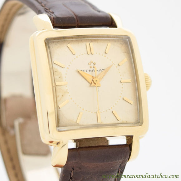 1960's Vintage Eterna Eterna-matic 14k Yellow Gold Watch (# 11186)