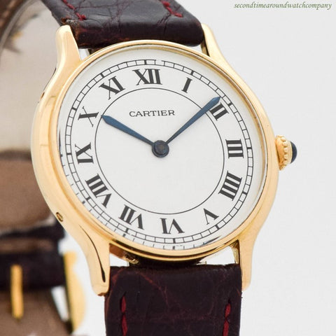 1990's era Cartier 18k Yellow Gold Watch