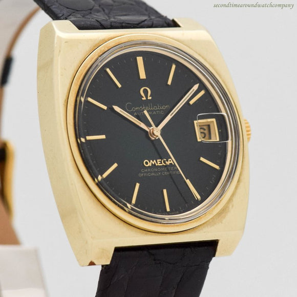 1971 Vintage Omega Constellation Ref. 166.063/168.048 14k Yellow Gold Shell & Stainless Steel Watch (# 11991)