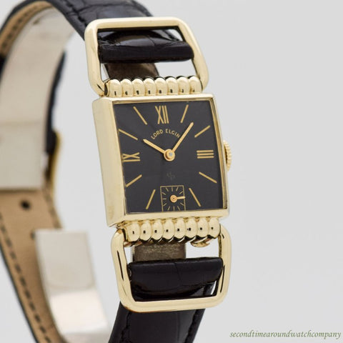 1950 Vintage Elgin Driver 14k Yellow Gold Filled Watch