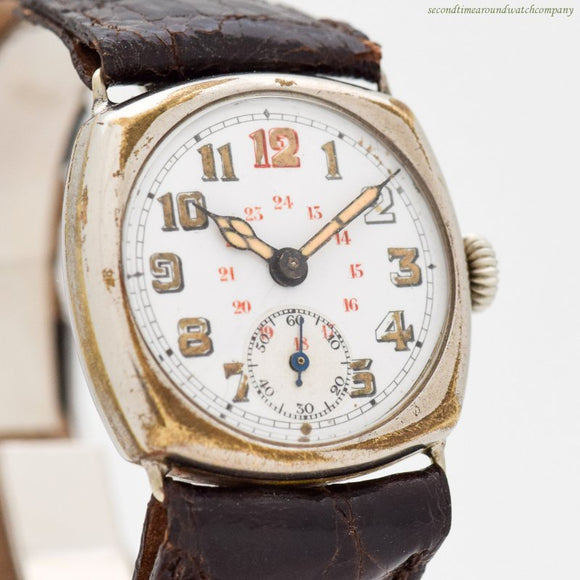 1910's era M. Klenier WWI-era Military Nickle Watch (# 12145)