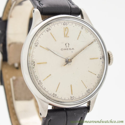 1946 Vintage Omega Ref. 2324/11 Stainless Steel Watch
