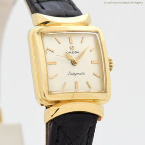 1957 Vintage Omega Ladymatic 18k Yellow Gold Watch